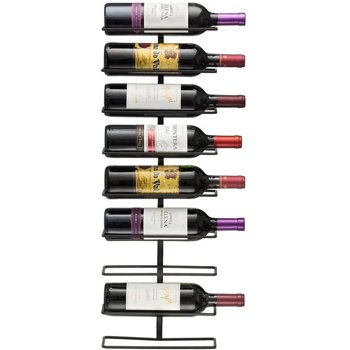 Wall Mount 9-Bottle Wine Rack