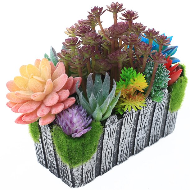 Artificial Succulent Plants Potted Succulent Arrangements Diy Bulk