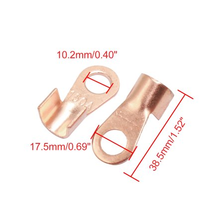 30pcs 150A Copper Ring Terminal Lug Non-Insulated Battery Cable Connector - image 1 of 2