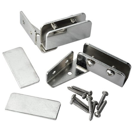 Chrome Pivot Door - Glass Door Pivot Hinge - Polished Chrome (Pair) By Rockler Ship from US