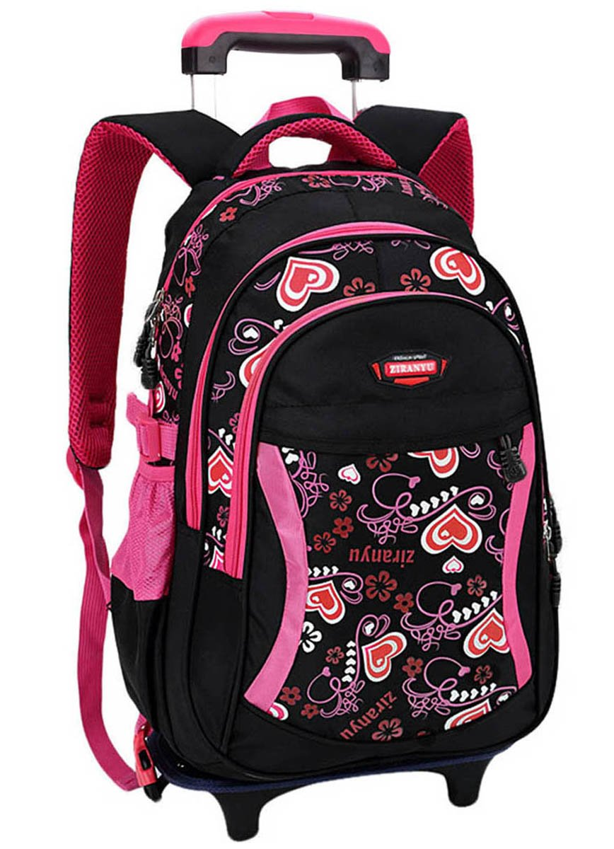 Coofit Rolling Backpack Cute School Backpack Kids Backpack With Wheels by Coofit