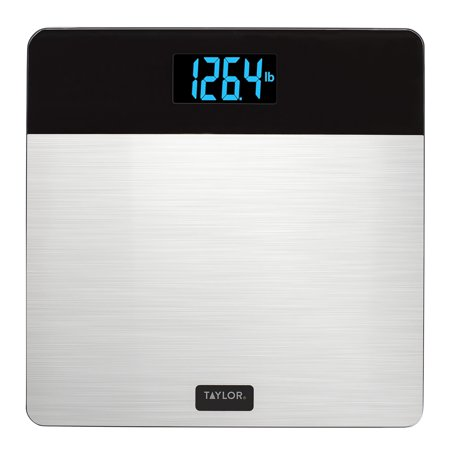 Taylor 7433 Digital Glass Bath Scale with Stainless Steel Top