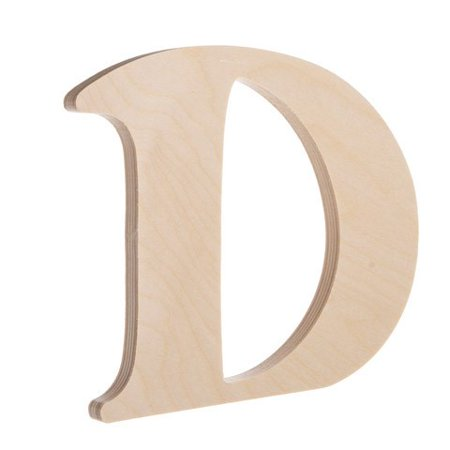 Fancy Wooden Letter D Unfinished 725 Inches