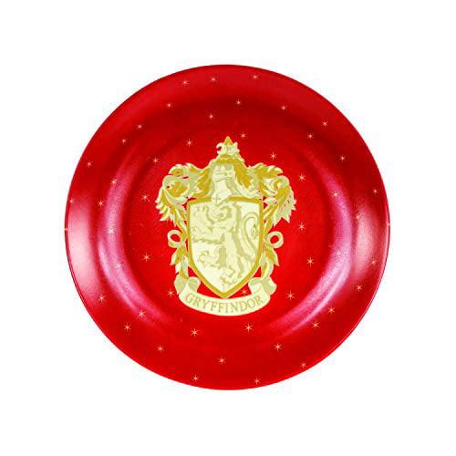 """Harry Potter Gryffindor Christmas Holiday Salad Dessert Plates, Set of 4 - Porcelain - 7.5"""""""