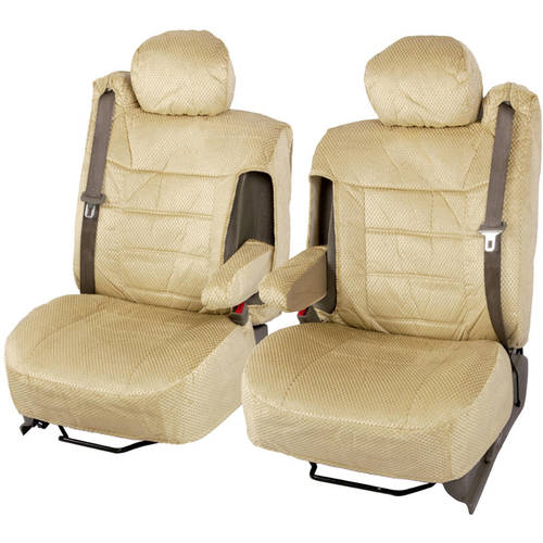 BDK Pickup Truck Seat Covers with Arm Rest and Built In Seat Belt, Scottsdale