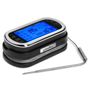 Grillaholics Wireless Digital Meat Thermometer With 200 Foot Range Remote for Use in the Oven, Smoker or Grill