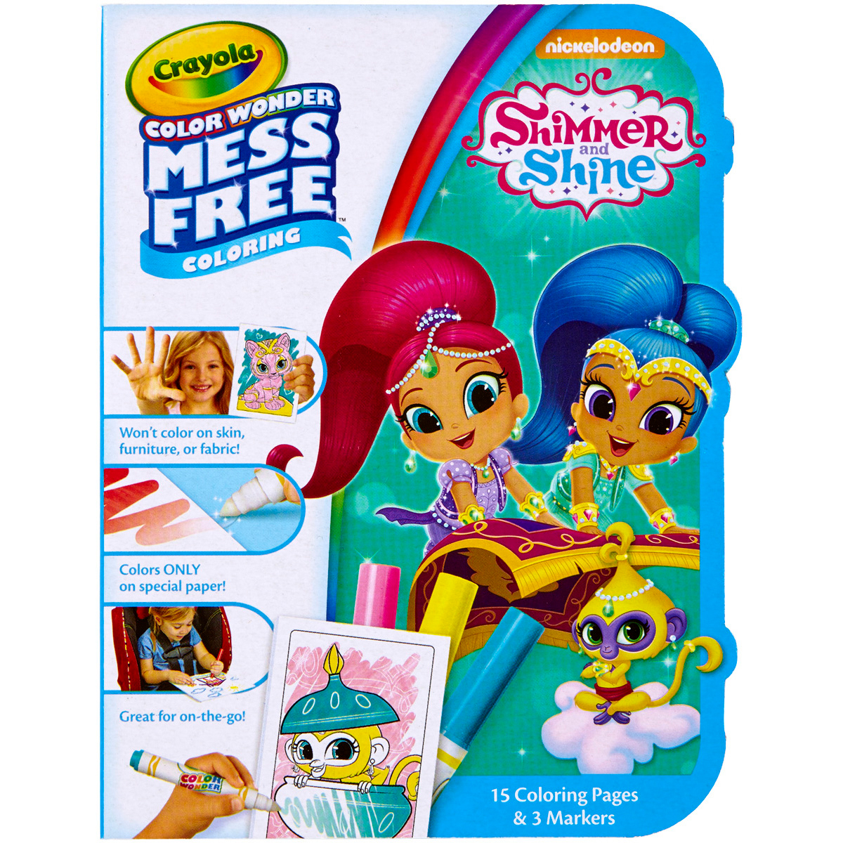 Crayola Color Wonder On The Go Coloring Kit Shimmer & Shine by Crayola