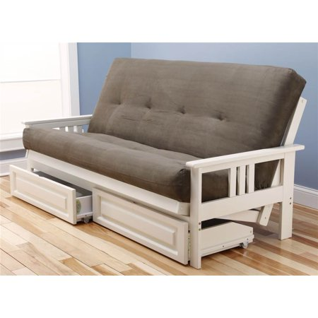 Monterey Futon Sofa with Suede Olive Mattress