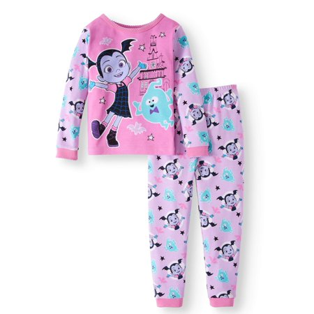 Cotton Tight Fit Pajamas, 2-piece Set (Toddler Girls)