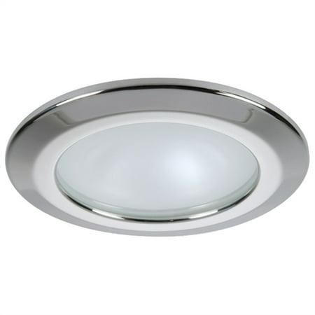 Quick USA Kor XP Downlight LED - 6W, IP66, Screw Mounted - Round Stainless Bezel, Round Warm White -
