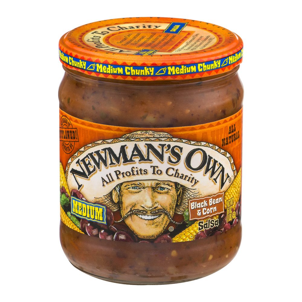 Newman's Own Medium Black Bean & Corn Salsa, 16.0 OZ