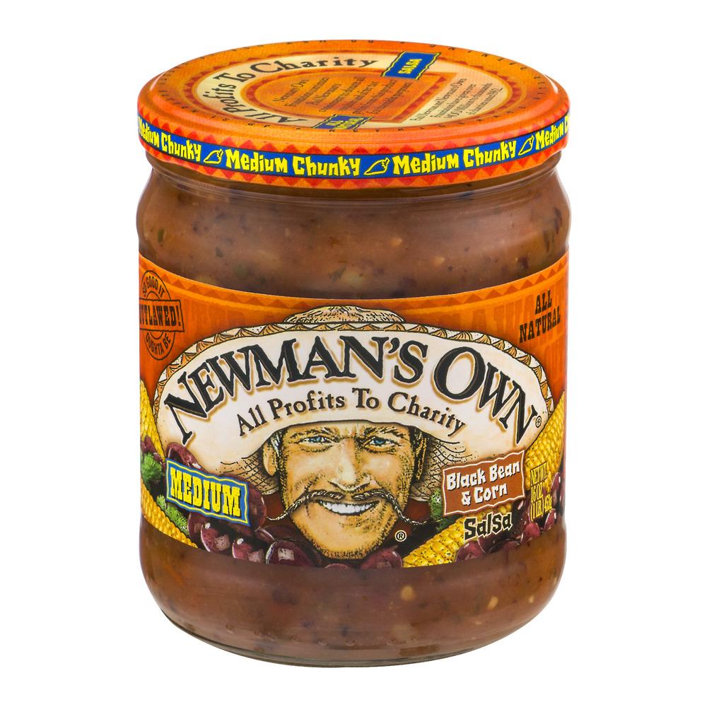 Newman's Own Medium Black Bean & Corn Salsa, 16.0 OZ