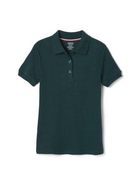 French Toast Toddler Girls 2-4 School Uniform Short Sleeve Picot Collar Interlock Polo Shirt
