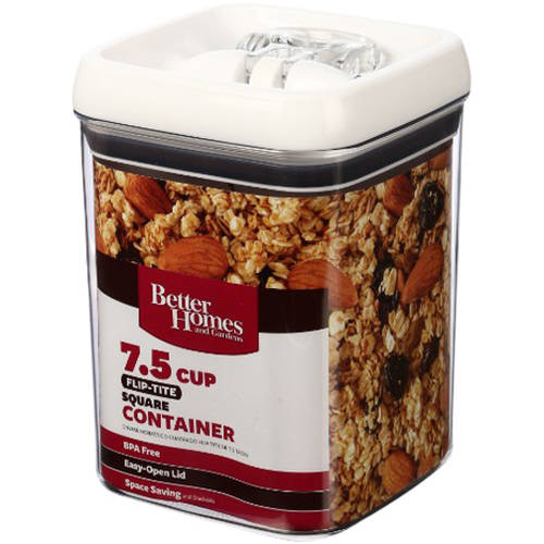 Better Homes and Gardens Flip-Tite 7.5 Cup Square Container
