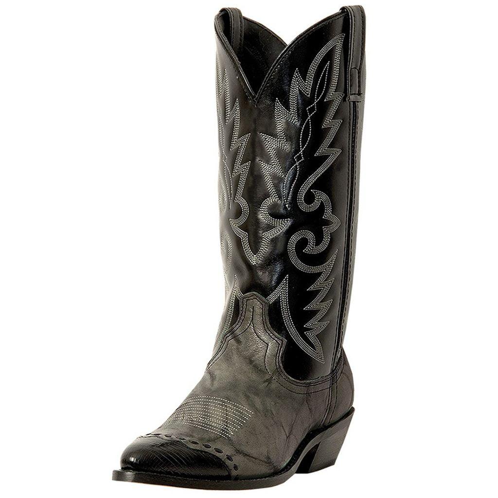 Laredo Western Boots Mens Flagstaff Wingtip Gray Marble Black 6782 by Laredo