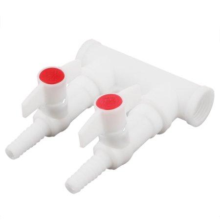 1/2PT Female Thread 2 Way Wash Sink 90 Degree Turn Basin Faucet White