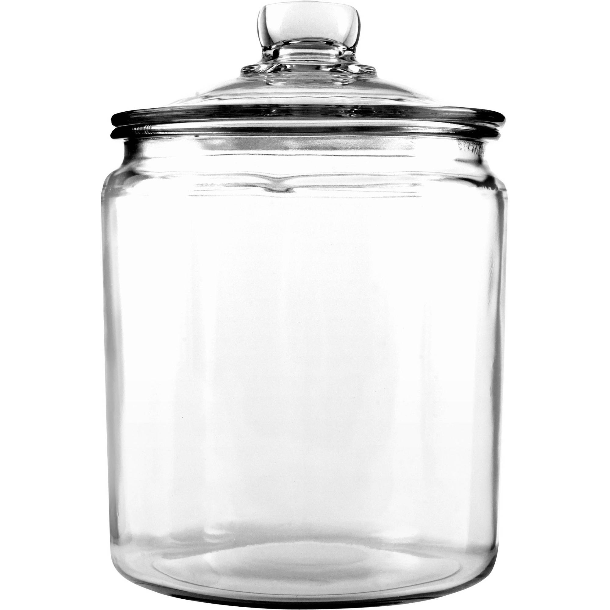 Anchor Hocking 1 2 Gallon Heritage Hill Clear Gl Jar With Lid Food Canister