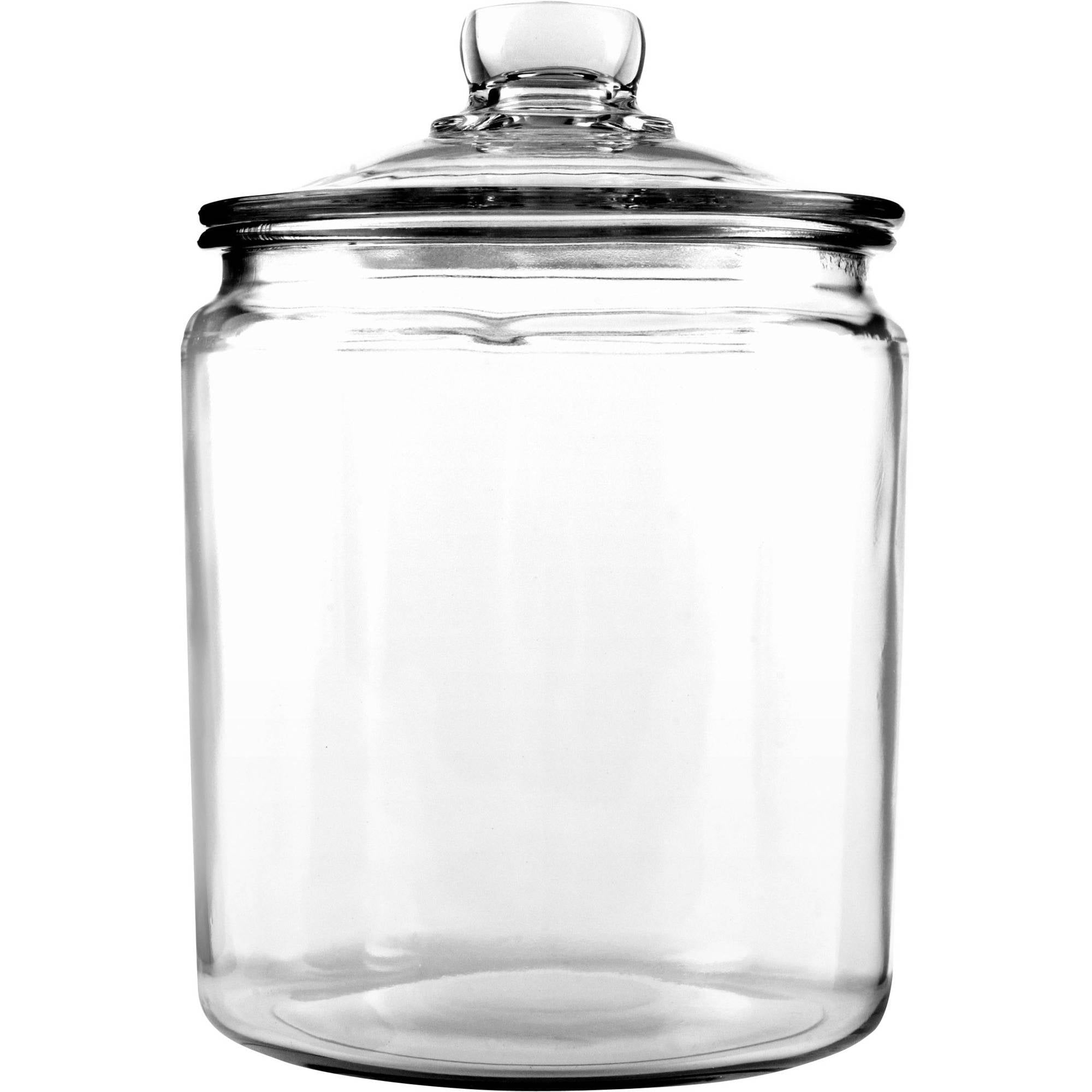 glass storage jars anchor hocking 1 2 gallon heritage hill glass jar with cover