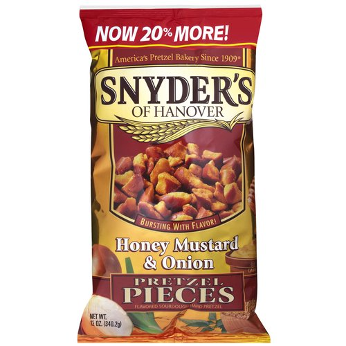 Snyder's Of Hanover Honey Mustard & Onion Pretzel Pieces, 12 oz