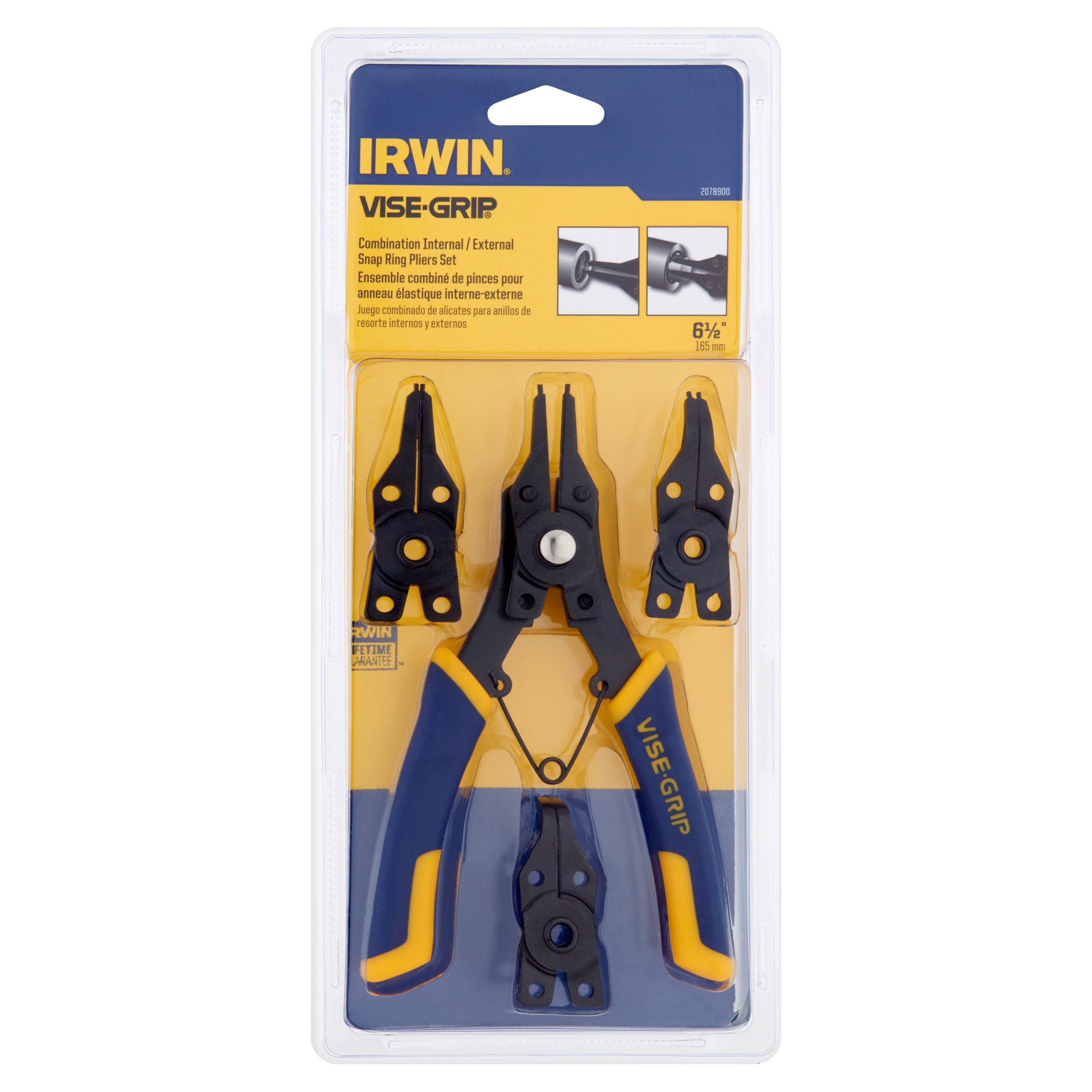 Irwin Vise-Grip Combination Internal/External Snap Ring Pliers Set