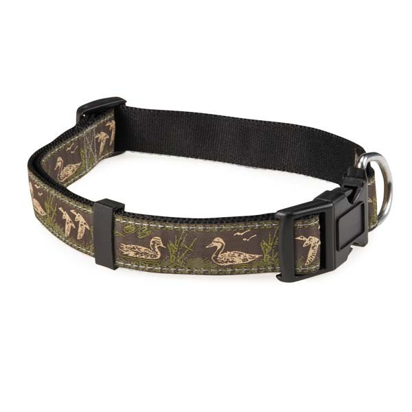 Zack & Zoey Water Ways Collar 10-16in Mallard