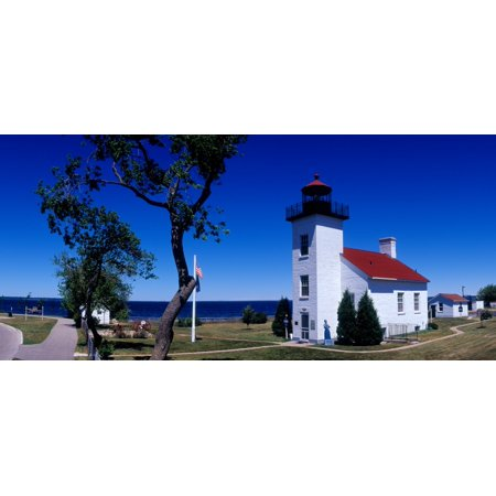 15 Poster Print - Sand Point Lighthouse in Escanaba Michigan USA Poster Print by Panoramic Images (15 x 7)