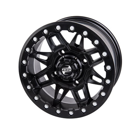 4/137 Tusk Wasatch Beadlock Wheel 15x7 5.0 + 2.0 Matte Black for Can-Am Maverick X3 Max Turbo R - 997 Turbo Wheels