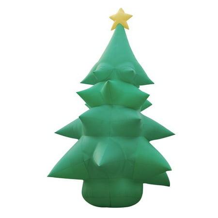 bzb goods christmas inflatable huge tree with star topper decoration - Huge Inflatable Christmas Decorations