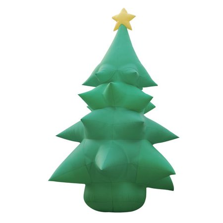 BZB Goods Christmas Inflatable Huge Tree with Star Topper Decoration