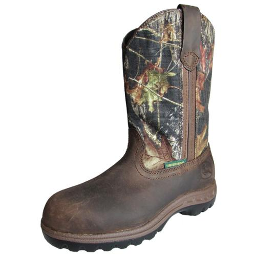 John Deere Womens JD3208 Gaucho Leather Boot Shoe, Camouflage, US 8.5