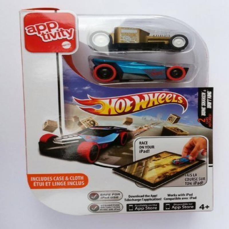 Mattel Hot Wheels Apptivity Set Of 2 Cars Bone Shaker & D...