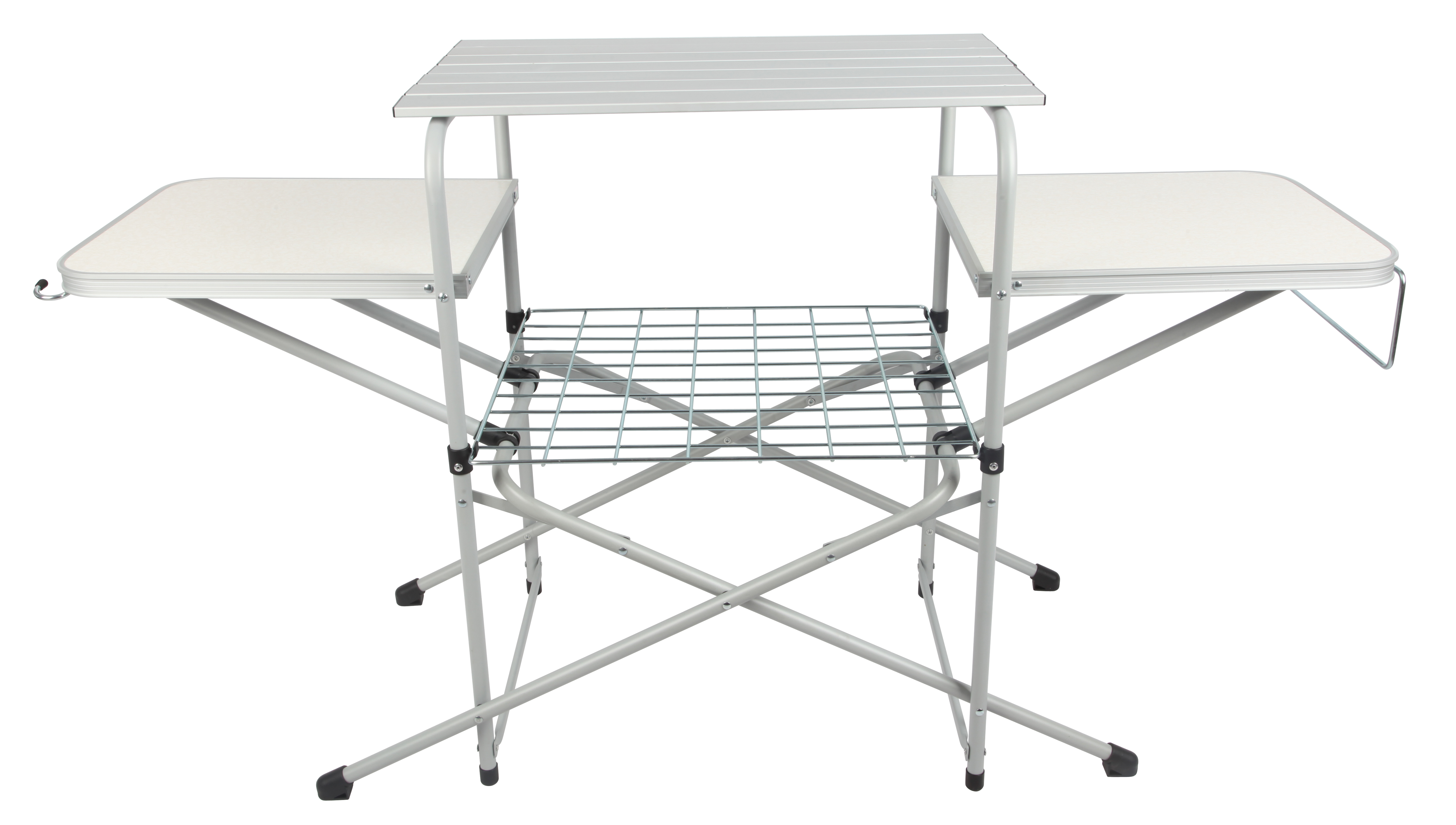 Brilliant Ozark Trail Camp Kitchen Cooking Stand With Three Table Tops Lamtechconsult Wood Chair Design Ideas Lamtechconsultcom