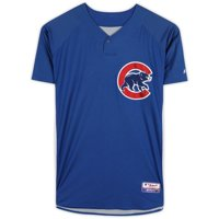 Koyie Hill Chicago Cubs Practice-Used #55 Blue Cool Base Jersey from the 2010 MLB Season - Fanatics Authentic Certified
