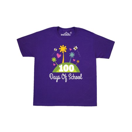 100 Days Of School Teacher Student Youth T-Shirt for $<!---->
