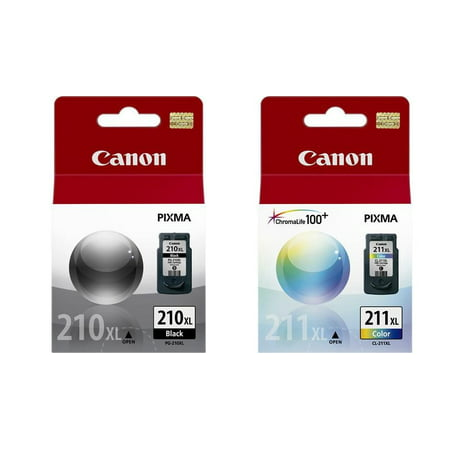 Genuine Canon PG-210XL Black Ink Tank + Canon CL-211 XL Color Ink Tank Series Color Ink Tanks