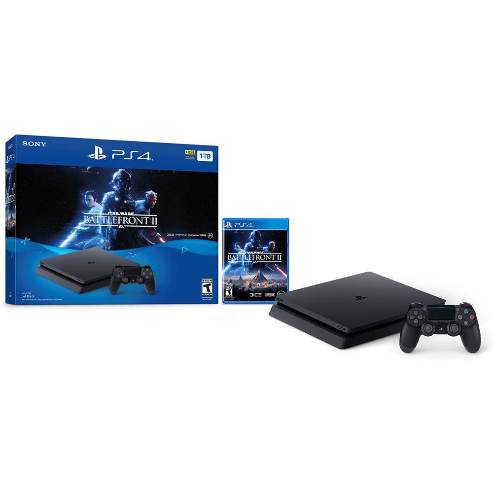 Sony PlayStation 4 Slim 1TB Star Wars Battlefront II Bundle, CUH-2115B