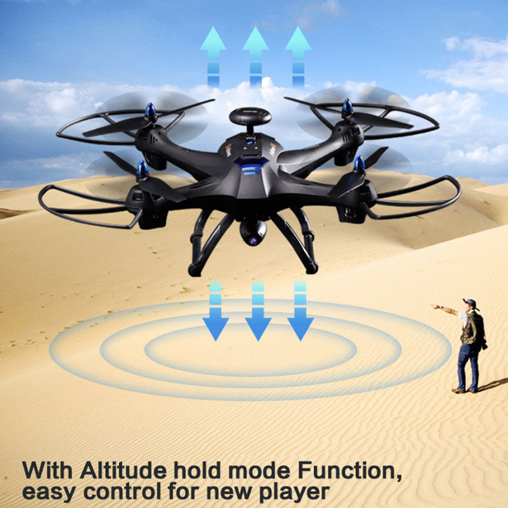 RC Quadcopter With Camera, Wifi Drone With 2MP HD Camera GPS Brushless Quadcopter 6-Axles... by OUTAD
