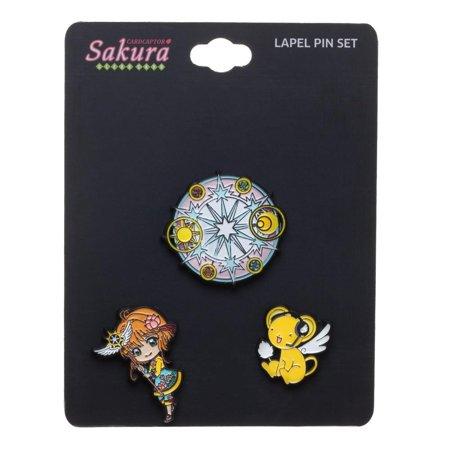 Pin Set - Card Captor - Sakura Lapel Set of 3 New lp7e95cru - image 2 de 2