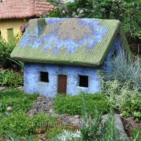 The Brookfield Co  Miniature Fairy Garden Thistle Cottage