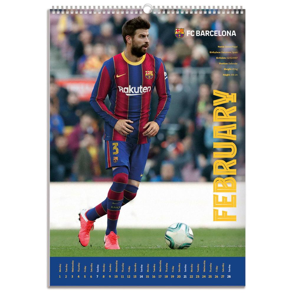 A3 FCB Official FC Barcelona 2021 Football Wall Calendar