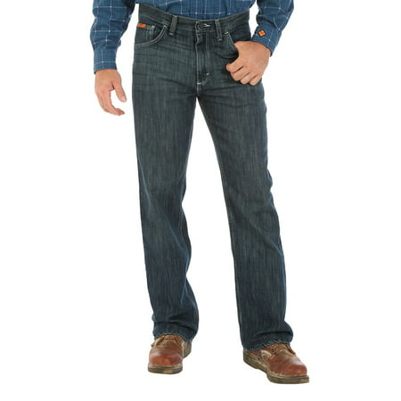 wrangler apparel mens  20x fr flame resistant boot jean - Firefly Denim