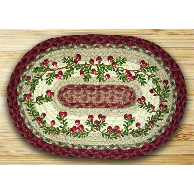 Earth Rugs 48-390C Oval Shaped Placemat, Cranberries