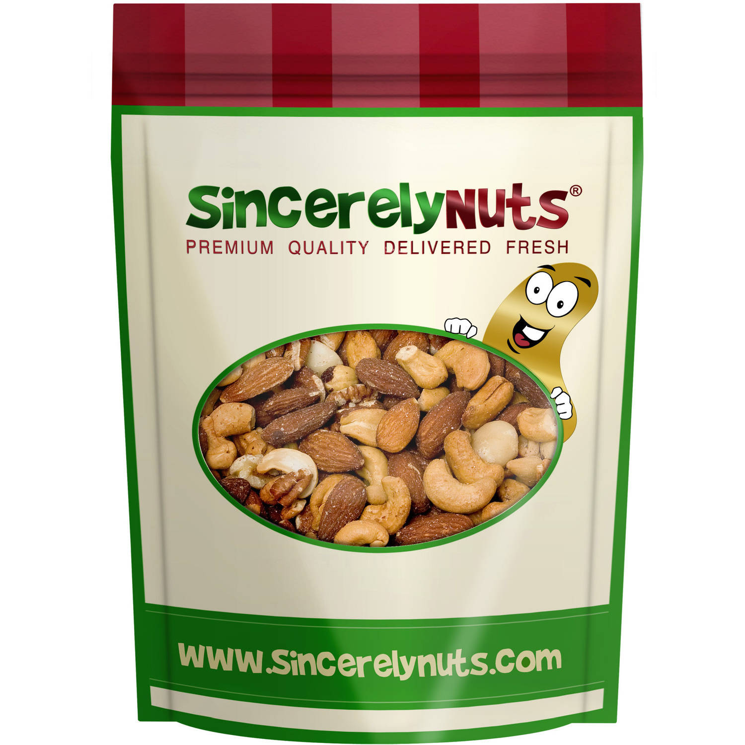 Sincerely Nuts Mixed Nuts Roasted Unsalted, 2 LB Bag by Sincerely Nuts