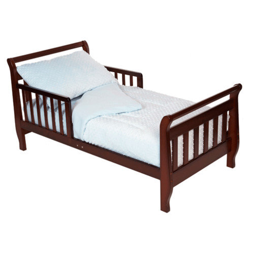 American Baby Company Minky Dot Chenille 4-piece Toddler Bed Set