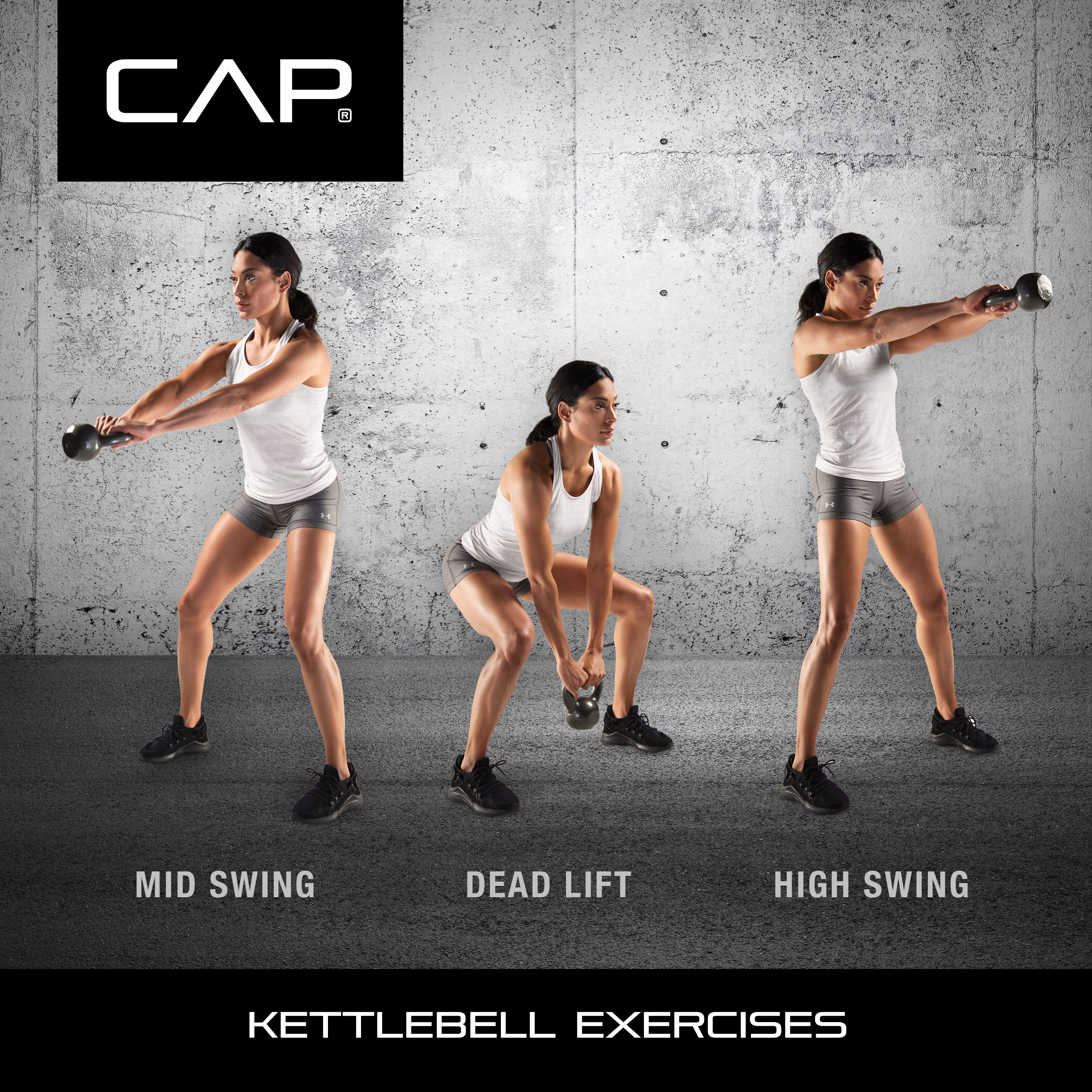 CAP Cast Iron Kettlebell 80 LBS Weight Fitness Body Training Exercise Gym