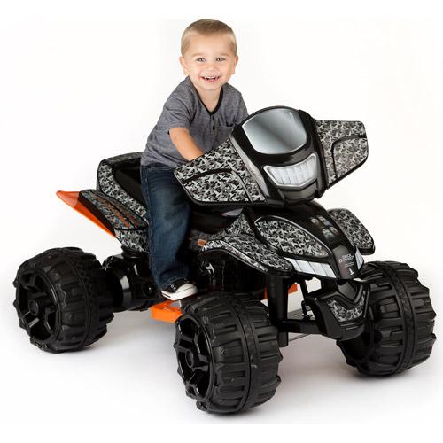 Duck Dynasty ATV 12-Volt Battery-Powered Ride-On, Gray