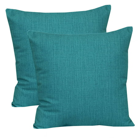 "Mainstays Outdoor Toss Pillow, 16"" x 16"", Monti Aqua - Set of 2"