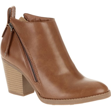 Faded Glory Women's Two-Zip Heel Boot