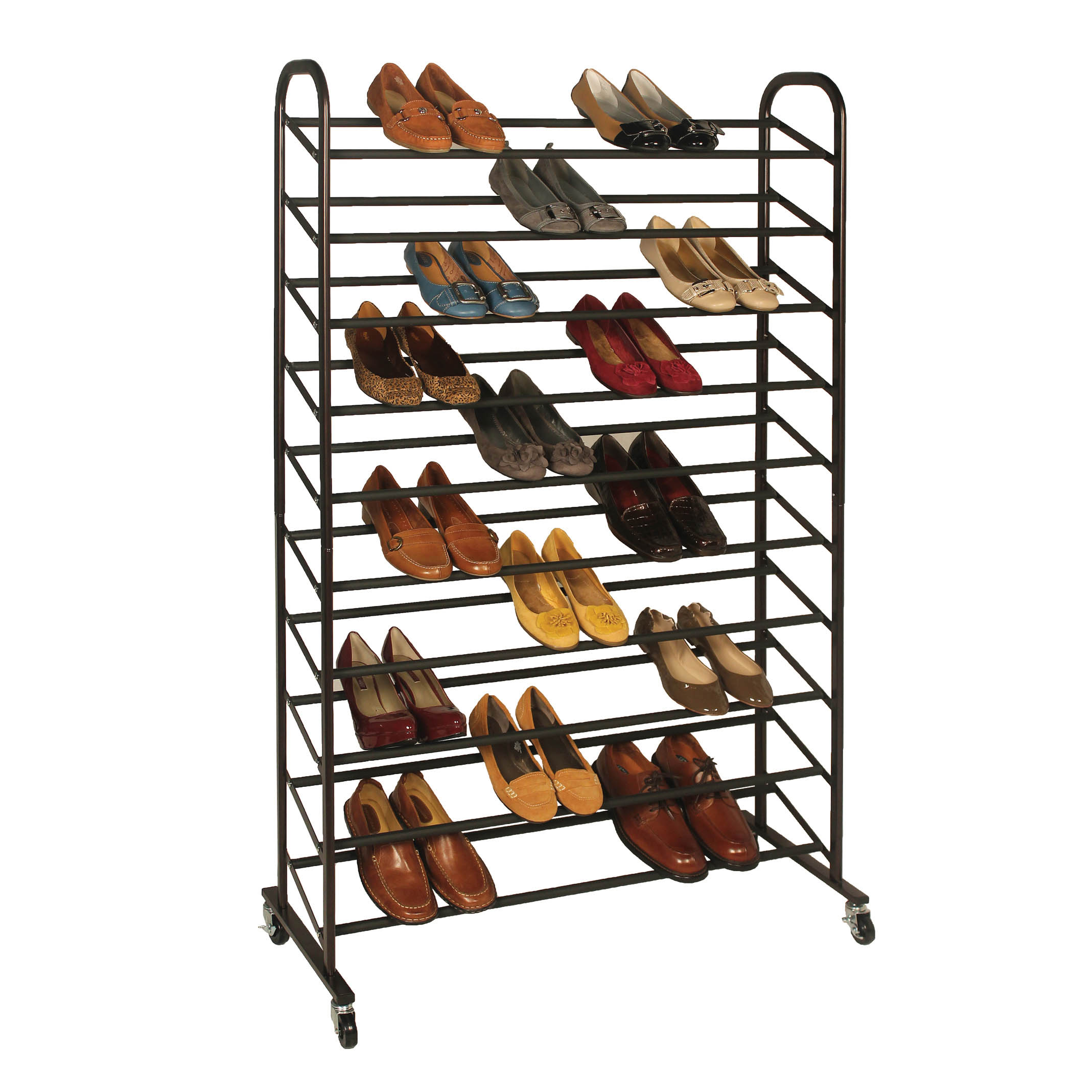 25 Pair Rolling Shoe Rack