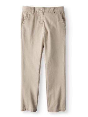 3c249cf8af4 Product Image Wonder Nation Girls School Uniform Stretch Twill Straight Fit  Pants